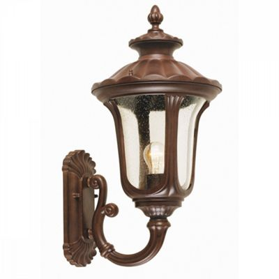Rusty Bronze Patina Wall Up Lantern Medium - 1 x 100W E27