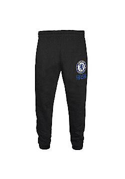 Chelsea FC Boys Slim Fit Jog Pants - Black