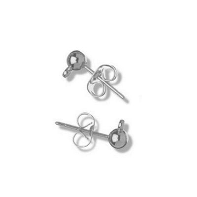 Impex Ear Post and Scroll 2pk Silver