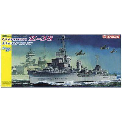 Smart Kit - German Z-38 Destroyer 1:350 Plastic Kit - Dragon
