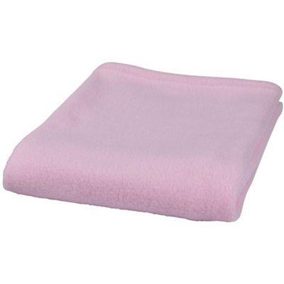 Clair de Lune Plain Fleece Pram & Travel Blanket (Pink)