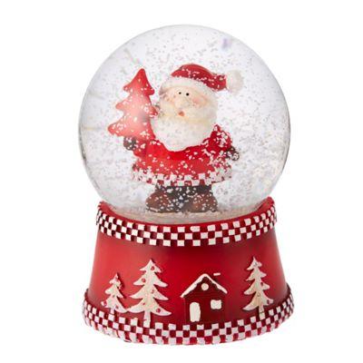 Nordic Santa Musical Snow Globe