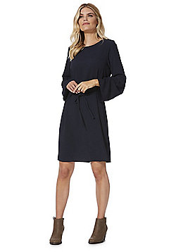 Vero Moda Crepe Bell Sleeve Dress - Navy