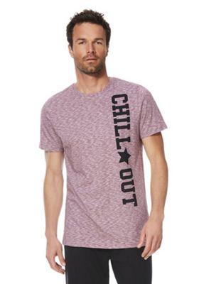 F&F Chill Out Slogan Lounge T-Shirt Pink XL