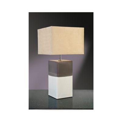 Alba Cream/Grey Table Lamp - 60W/20W LE E27