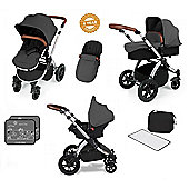 Ickle Bubba Stomp V3 AIO Travel System - Red (Silver Chassis)