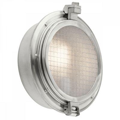 Brushed Aluminum 1lt Outdoor Wall Light - 1 x 75W E27