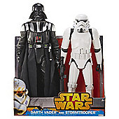 Star Wars New Hope Darth Vader and Stormtrooper 20 Inch Twin Pack