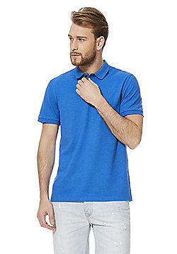 F&F Short Sleeve Polo Shirt with As New Technology - Blue