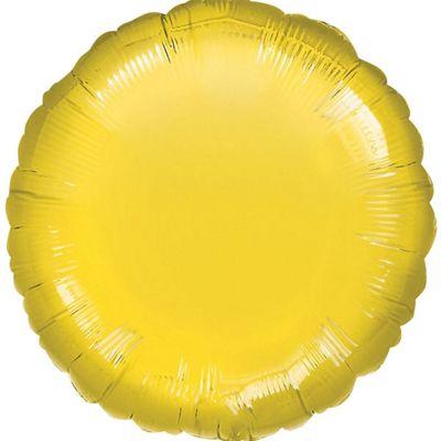 Yellow Round Balloon - 18 inch Foil