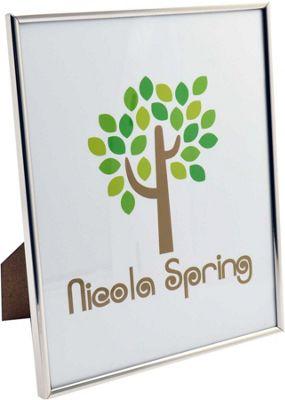 Nicola Spring Silver Metal 8x10 Photo Frame - Standing