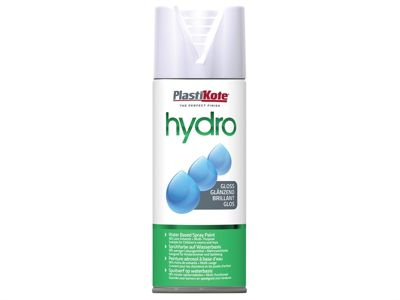 Plasti-kote Hydro Spray Paint White Gloss 350ml