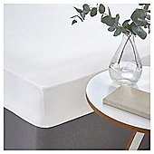 SILENTNIGHT COTTON RICH WHITE FITTED SHEET DB