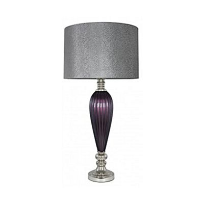 Purple Pearl Classical Table Lamp With Grey Snakeskin Shade