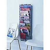 Design Ideas WallPockets Magazine Rack Mesh Silver