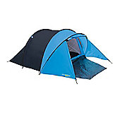 3 Man Peak Dome Tent with Porch - 200+90 x 120 x 95cm Blue / Red - Yellowstone