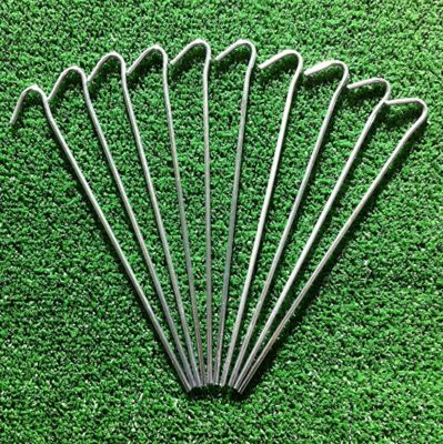 100 Heavy Duty Tent pegs. Ideal for Tents, netting, gardening etc. 9