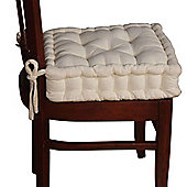Homescapes Cotton Dining Chair Booster Cushion Cream