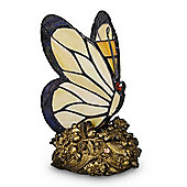 Traditional Style Papillon Butterfly Table Lamp, Bronze & Cream