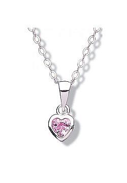 Jo For Girls Pink CZ Heart Pendant