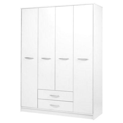 Kimpton 4 Door Wardrobe, White