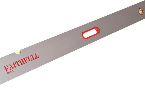 Faithfull SL8 Screeding Level 2400mm/8ft 3 Vial and Grips
