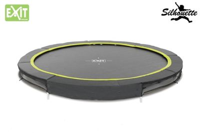 EXIT Black Edition Ground 8ft Trampoline