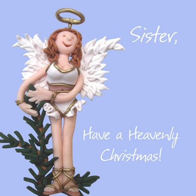 Holy Mackerel Sister, Have a Heavenly Christmas Greetings Card