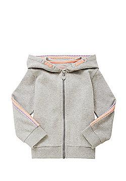 F&F Embroidered Sleeve Hoodie - Grey