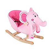 HOMCOM Kids Rocking Elephant Seat with Sound (Pink)