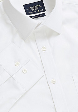 F&F Cotton Regular Fit Shirt - White