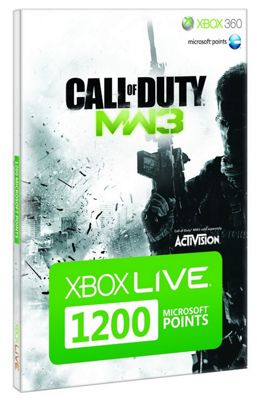 Xbox 360 Live Points 1200 Points Call of Duty Modern Warfare 3