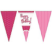 Perfectly Pink Happy Birthday Bunting