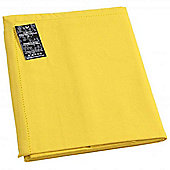 Homescapes Plain Cotton Yellow Tablecloth, 54 x 70 Inches