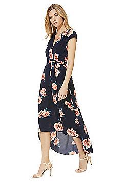 AX Paris Floral Print Midi Dress - Navy & Multi
