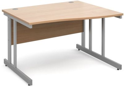 DSK Momento 1200mm Right Hand Wave Desk - Beech