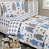 Bears Single Bedding - 100% Cotton