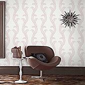 Designer Julian Macdonald Venus Pink/White Glitter Wallpaper