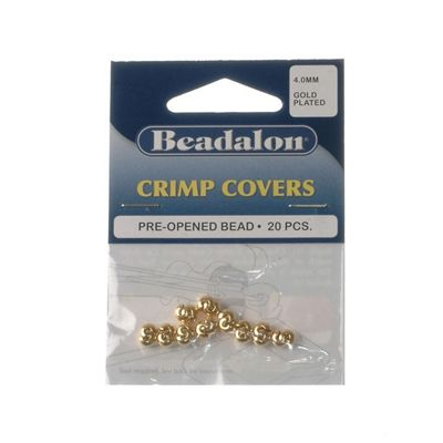 Beadalon Crimpcover 4mm Gold Platet 20Pcs