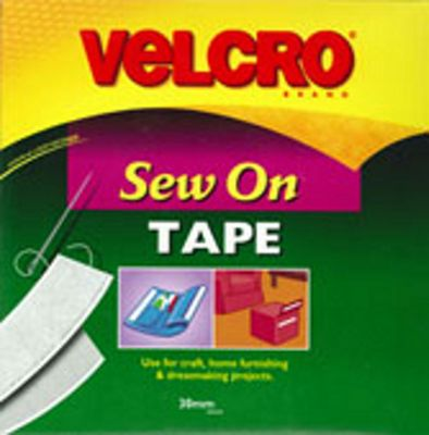 Velcro Sew N Sew 30mm - White