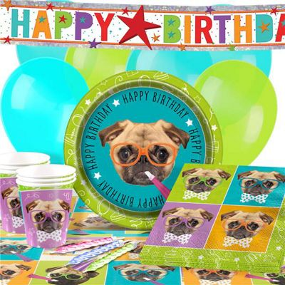 Pug Party Pack - Deluxe Pack for 16