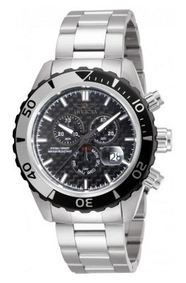 Invicta Pro Diver Mens Stainless Steel Chronograph, Day & Date Watch 12860