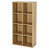 Vernon 8 Cube Bookcase - Oak