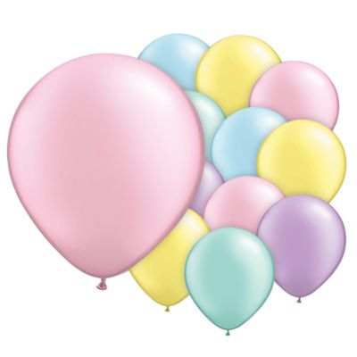 Pastel Pearl Assorted 5 inch Latex Balloons - 100 Pack
