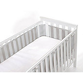 BreathableBaby 4 Sided Mesh Cot Liner - Grey Mist