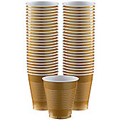 Gold Cups - 473ml Plastic Party Cups - 50 Pack
