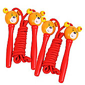 Bigjigs Toys Coloured Skipping Rope (Pack of 2 - Red Handle Bear)