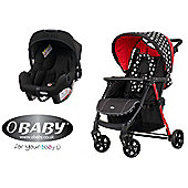 Obaby Hera Travel System - Crossfire (Black Car Seat)
