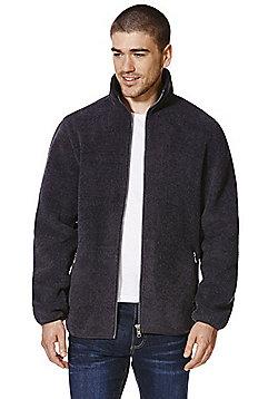 F&F Funnel Neck Zip-Through Fleece - Charcoal grey