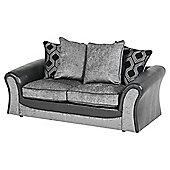 Arabella Medium 2.5 Seater Sofa, Geometric Dark Grey